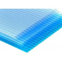 14mm Blue Color Honeycomb Polycarbonate Sheet For Roofing 10 Year Warranty Manufactures