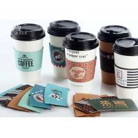Recyclable Hot Drink Sleeves , Hot Coffee Cup Sleeves Heat Resistant Manufactures