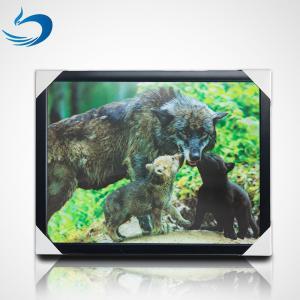 China Custom Bear Design 3D Lenticular Picture , 3D Flip Picture Decration on sale