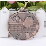 Custom antique bronze metal blank badminton medals, metal blank badminton medals, Manufactures