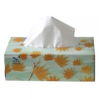 China bleaching during 4ply Recycle pulp strong tensile strenght yet soft Family Facial Tissue Box on sale
