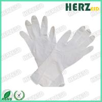 Waterproof Anti Oil ESD Hand Gloves , Nitrile Exam Gloves Powder Free Stretchable Manufactures