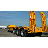 3 Axles Gooseneck Low Bed Trailer Transporter 70 Ton For Heavy Excavator Wheelloader Manufactures