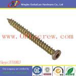Yellow Zinc Flat Head Torx Concrete Screws Manufactures