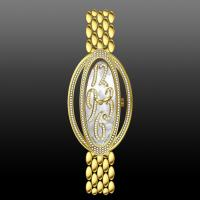 China oval shape women watch with stones  30063 on sale