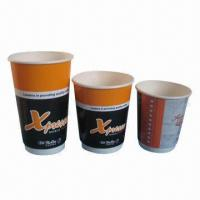Disposable Double Wall Paper Cup, 8oz/10oz/12oz, For Cold Drinking, Flexo Printing, OEM Welcome  Manufactures