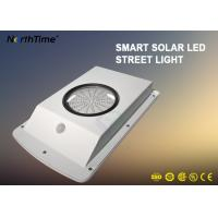 All In One Solar Garden Lamp , Dimmable Motion Sensor Street Light Last 4 Rainy Days Manufactures