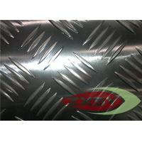 Clean Flat Five Diamond Embossed Aluminium Sheet , Aluminium Tread Plate Manufactures