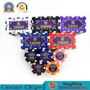 China 14g Custom American Plastic Casino Poker Chip Set Ink Silk Screen Bronzing on sale