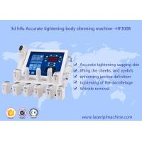 3d Hifu Ultrasound Machine / Accurate Tightening Body Slimming Facial Lifting Beauty Machine Manufactures