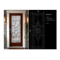 Arctic Patterned Window Door Suit Decorative Frosted Glass Brass / Nickel / Patina Manufactures