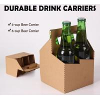 Wine bottle carrier, disposable paper holder,newspaper holder recycling,take away coffee cup carrier, handy, handle pac Manufactures