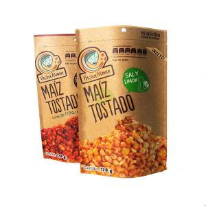 120 Gram Snack Bag Packaging Cashnew Nut Kraft Paper Bag With Zipper Food Paper Bag Manufactures