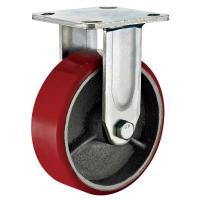 """Buy cheap 6""""X2"""" Red PU Casting Iron Wheel Heavy Duty Rigid Castor For Material Handling from wholesalers"""