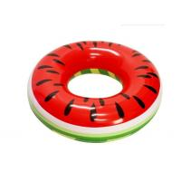 "PVC Watermelon Inflatable Swim Ring Pool Float  46"" X 46"" X 10"" Quick Inflation Manufactures"