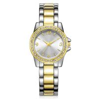 China Ladies Watches Design Womens Alloy Fashion Crystal Glass Gold Plated Watch on sale