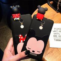 Hot Selling 3d Soft PVC Mickey Minne Silicone Phone Case Phone Cover , Black Color , Best Christmas Gift