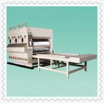 JCBRF-1600 Ф800mm Big rollers semi auto water ink chain feeding printer machine Manufactures