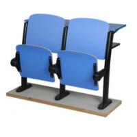 China Fixed Lecture Chairs With Writing Tablets , Classroom Furniture For Reading on sale