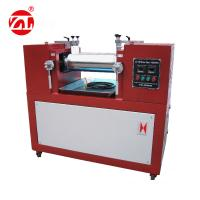 Red Color Two Roller Mixing Machine / Open Two Roll Mill for Plastic & Rubber Manufactures