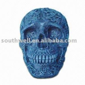 resin skull statue,skull head