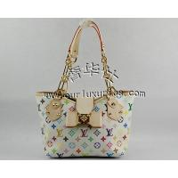 Louis Vuitton multicolor handbag with natural oxidizing leather handle and trim M40307 Manufactures