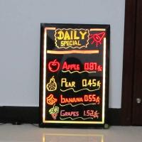 China neon sparkle led writing board  for restaurant on sale