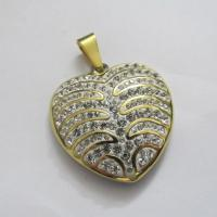 High Quality Costume Jewelry 316L Stainless Steel Crystal Pendants Manufactures