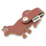 Dog Shape Leather USB Flash Disk , 2GB 4GB Embossed Logo Memory Stick Manufactures