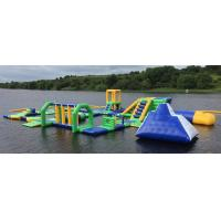Lake Floating Inflatable Water Park / Inflatable Water Games For Adults And Kids Manufactures