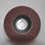 Aluminum Oxide High Density Abrasive Flap Discs Conical For Angle Grinders Fiberglass Base Manufactures