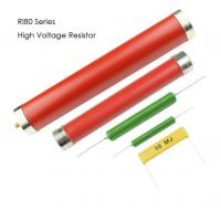 RI80 Type High Moisture Proof High Voltage Metal Glaze Film Resistors color red 10w 30w 20w Manufactures
