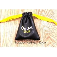 Fashion PU Leather Gift Bag Jewelry Pouch Drawstring Waterproof Bag Universal