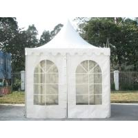 White PVC Outdoor Exhibition Tent , Heat Resistant Marquee Party Tent UV Protection Manufactures