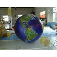 Waterproof Earth Balloons Globe , Large Inflatable Advertising Balloons Manufactures