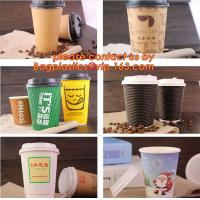 disposable paper cup with custom logo print,Single Wall Paper Coffee Cup with