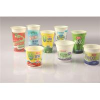 Disposable Custom Plastic / PP / PS Yogurt Cups With Printed Shrink Label Manufactures