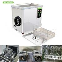 Digital Timer Heater Adjustable Industrial Ultrasonic Cleaning Tanks 38l Metal Manufactures