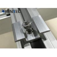 Anodized PV MID Clamp For Roof Mounting Systems , Customized Dimensions Manufactures