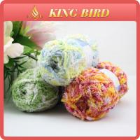 OEM chenille Fancy Polyester Knitting Yarn for glove , double knitting yarn Manufactures