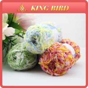 OEM chenille Fancy Polyester Knitting Yarn for glove , double knitting yarn