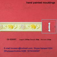 China Hand Painted Hollow PU cornice Mouldings /Foam Mouldings on sale