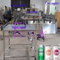 Soft Drink Aluminum Can Filler Machine , Commercial Can Sealing Equipment Manufactures