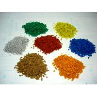 Kindergarten EPDM Rubber Granules , 2-4mm / 3-5mm Vivid Color Recycled Rubber Crumb Manufactures