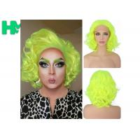Graceful Green Curly Famale Colonial Costume Wig 12 Inch HT Fiber Material Manufactures