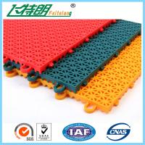China PP Installation Rubber Interlocking Floor Mats For Tennis / Basketball Court on sale