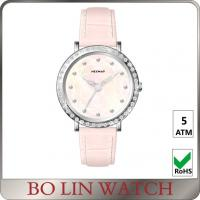 China Sapphire Crystal Shining Diamond Quartz Watch For Women MOP Dial on sale