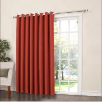 China Bedroom / Dining Room Blackout Panel Curtains Brick Colored 160Cm Width on sale