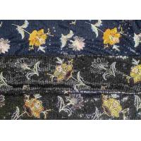 China Embroidery Sequin Lace Fabric with 3D Elegant Multi Colored Flowers Pattern on sale