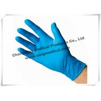 Quality 4 Mil Nitrile Medical Examination Gloves Blue Powder Free Food Grade for sale